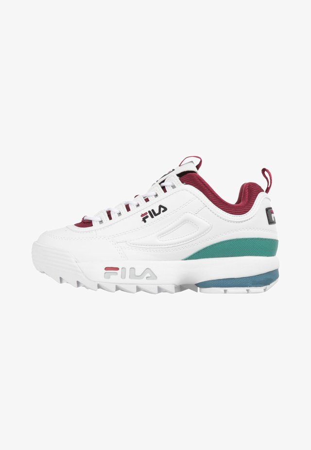 Trainers - white/green/bordeaux