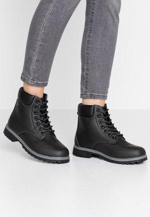 MAVERICK - Lace-up ankle boots - black