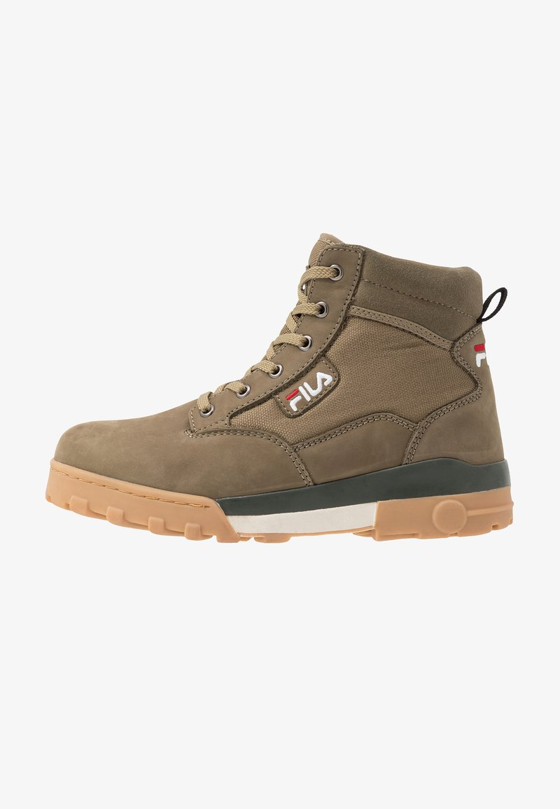 Fila - GRUNGE MID - Lace-up ankle boots - burnt olive