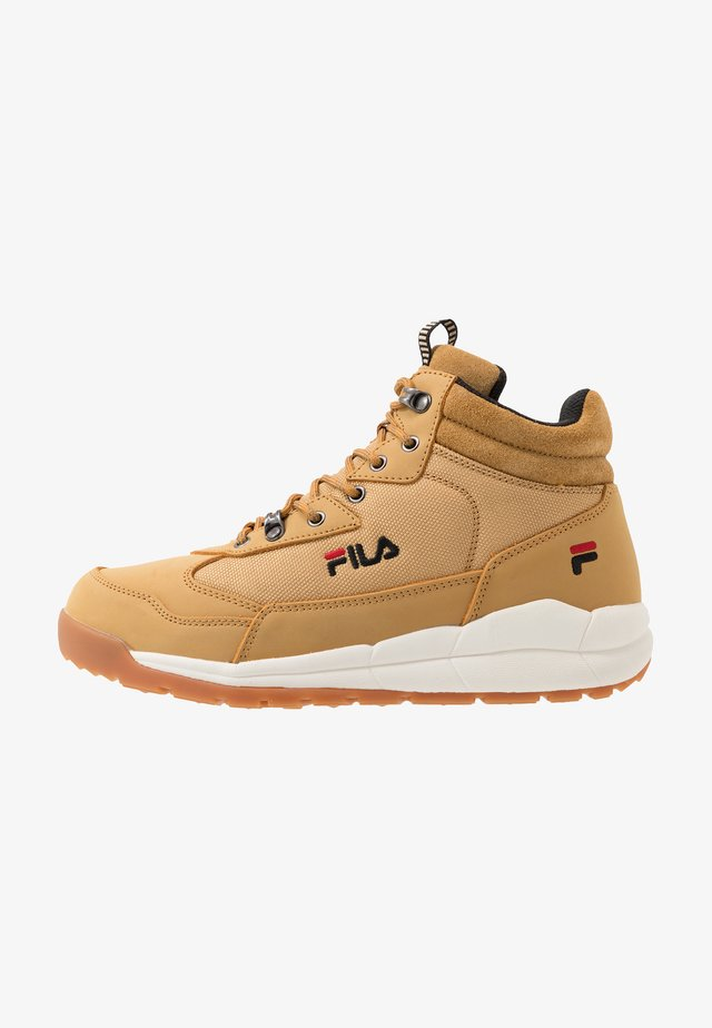 ALPHA MID - High-top trainers - chipmunk
