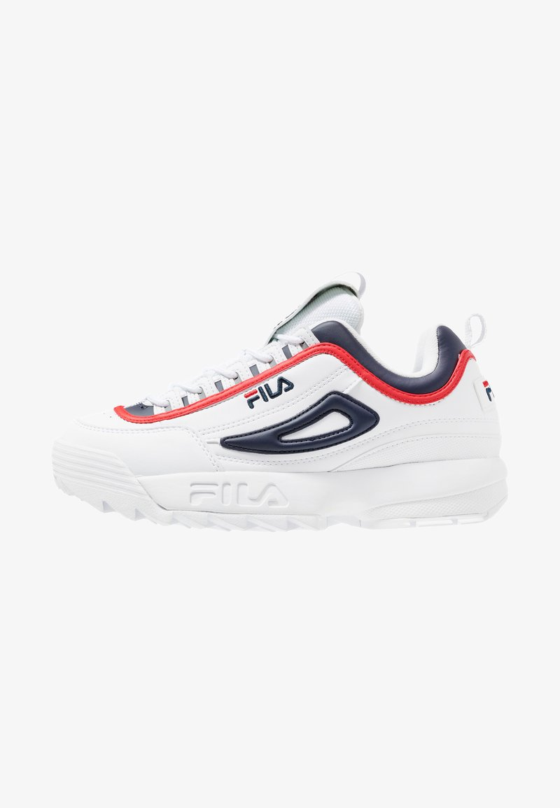 Fila - DISRUPTOR - Trainers - white/navy/red