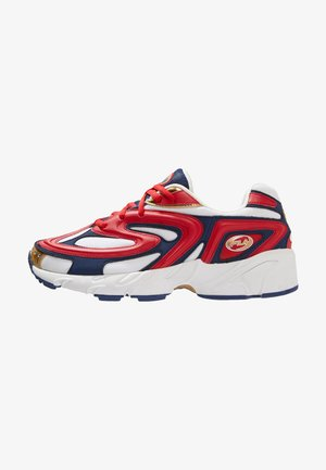 BUZZARD - Sneaker low - fierry red/white/estate blue