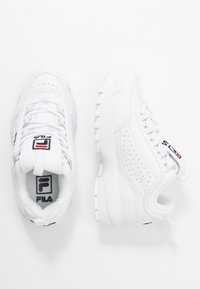 Fila - DISRUPTOR KIDS - Matalavartiset tennarit - white - 0