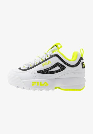 DISRUPTOR - Sneaker low - white/neon lime