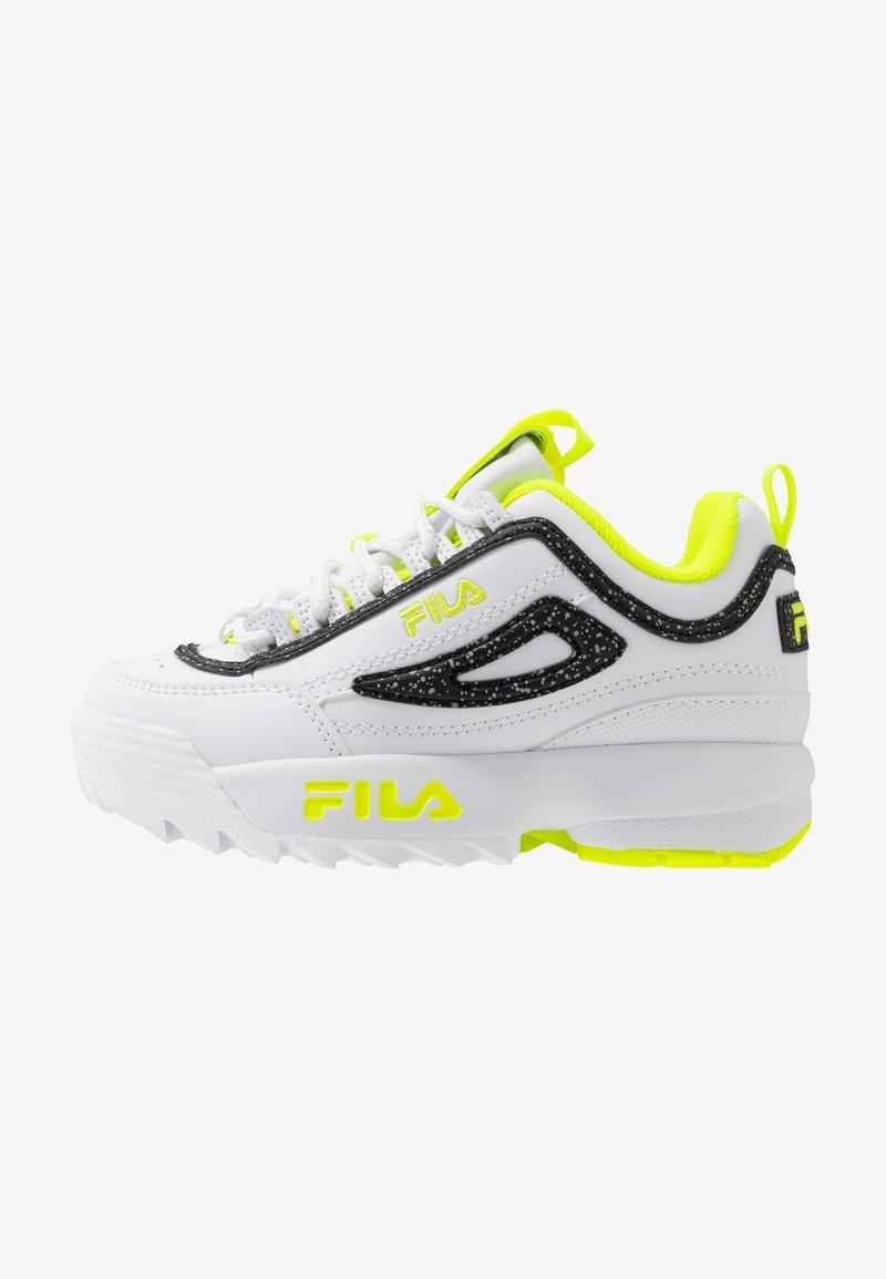 Fila - DISRUPTOR - Zapatillas - white/neon lime