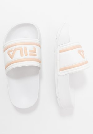 MORRO BAY - Sandalias planas - white/rose gold
