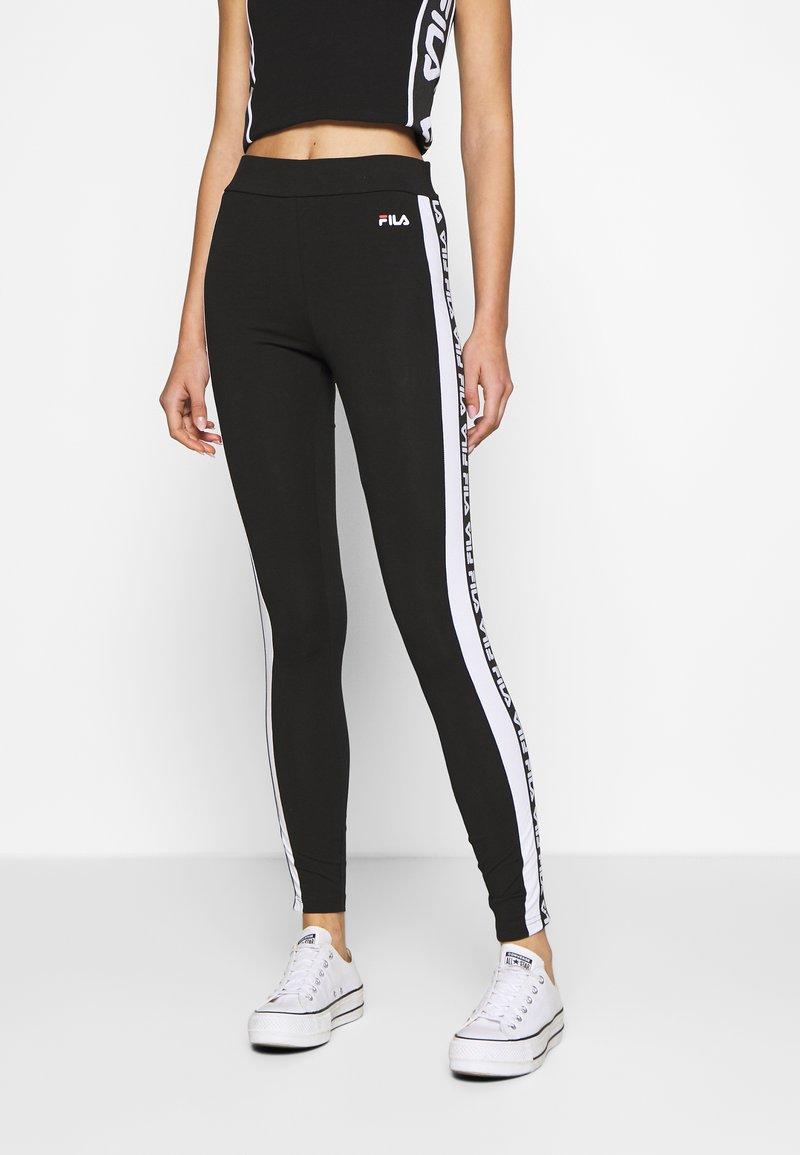 Fila - TASYA - Leggings - Trousers - black/bright white