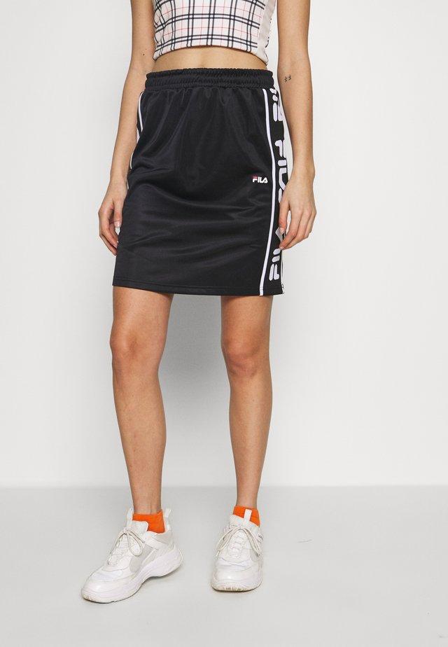 TARALA - A-line skirt - black
