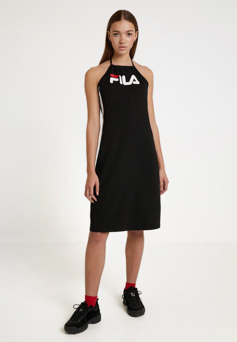 Fila - ALINA NECKHOLDER DRESS - Jerseykjole - black/bright white