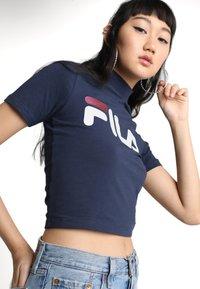 Fila - EVERY TURTLE TEE - T-shirt con stampa - black iris - 3