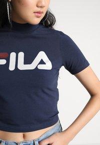 Fila - EVERY TURTLE TEE - T-shirt con stampa - black iris - 5