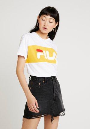 ALLISON TEE - T-shirts print - bright white/citrus