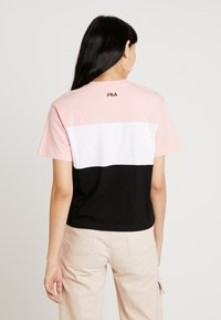 Fila - ALLISON TEE - T-shirts print - black/pink/bright white - 2