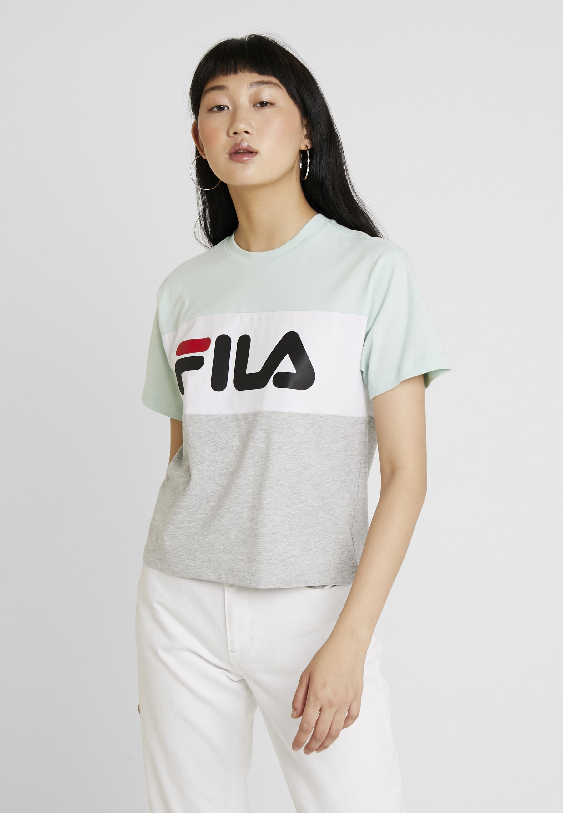 ALLISON melange mist white bright grey green TEET Fila shirt imprimé light qzUMVSp