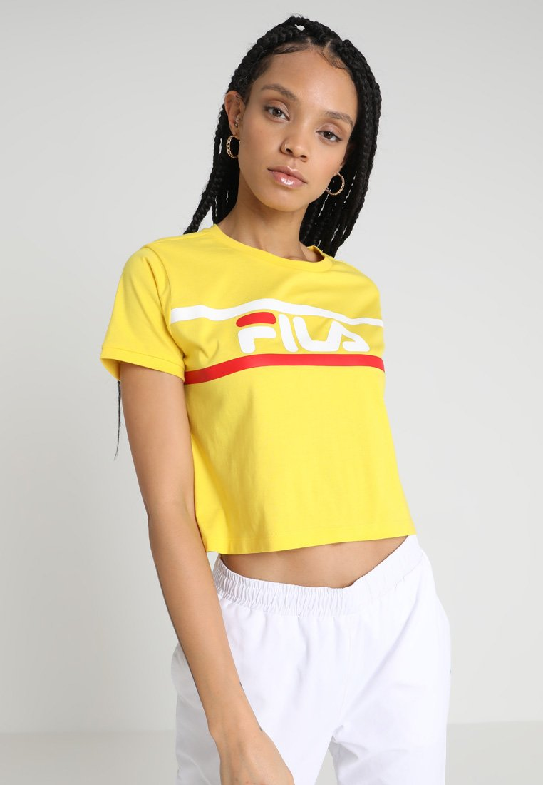 Fila - ASHLEY CROPPED TEE - T-shirt print - empire yellow