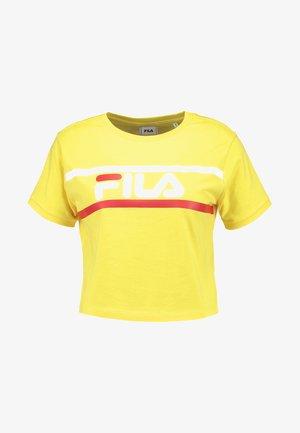 ASHLEY CROPPED TEE - T-shirts print - empire yellow