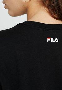 Fila - PURE LONG SLEEVE - Långärmad tröja - black - 5