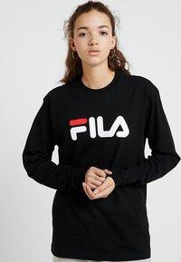 Fila - PURE LONG SLEEVE - Långärmad tröja - black - 0