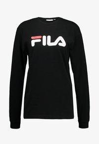 Fila - PURE LONG SLEEVE - Long sleeved top - black - 4