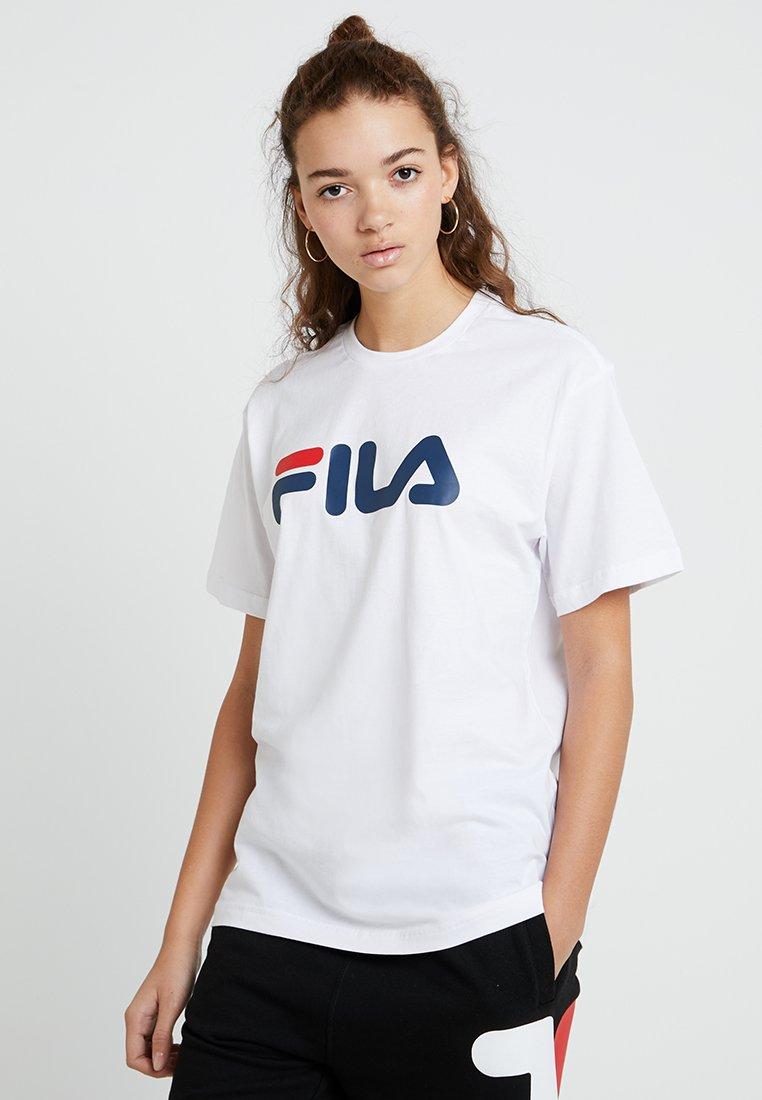 Fila - PURE SHORT SLEEVE - Triko spotiskem - bright white