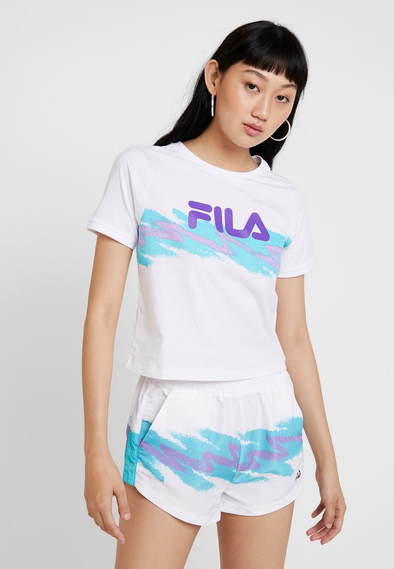 Fila - GAURI CROPPED TEE - T-Shirt print - bright white