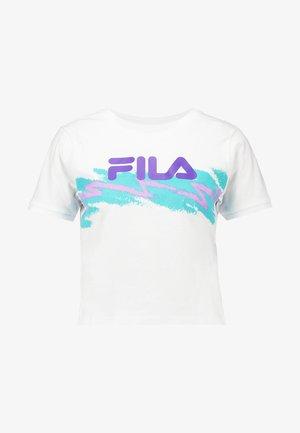 GAURI CROPPED TEE - Camiseta estampada - bright white