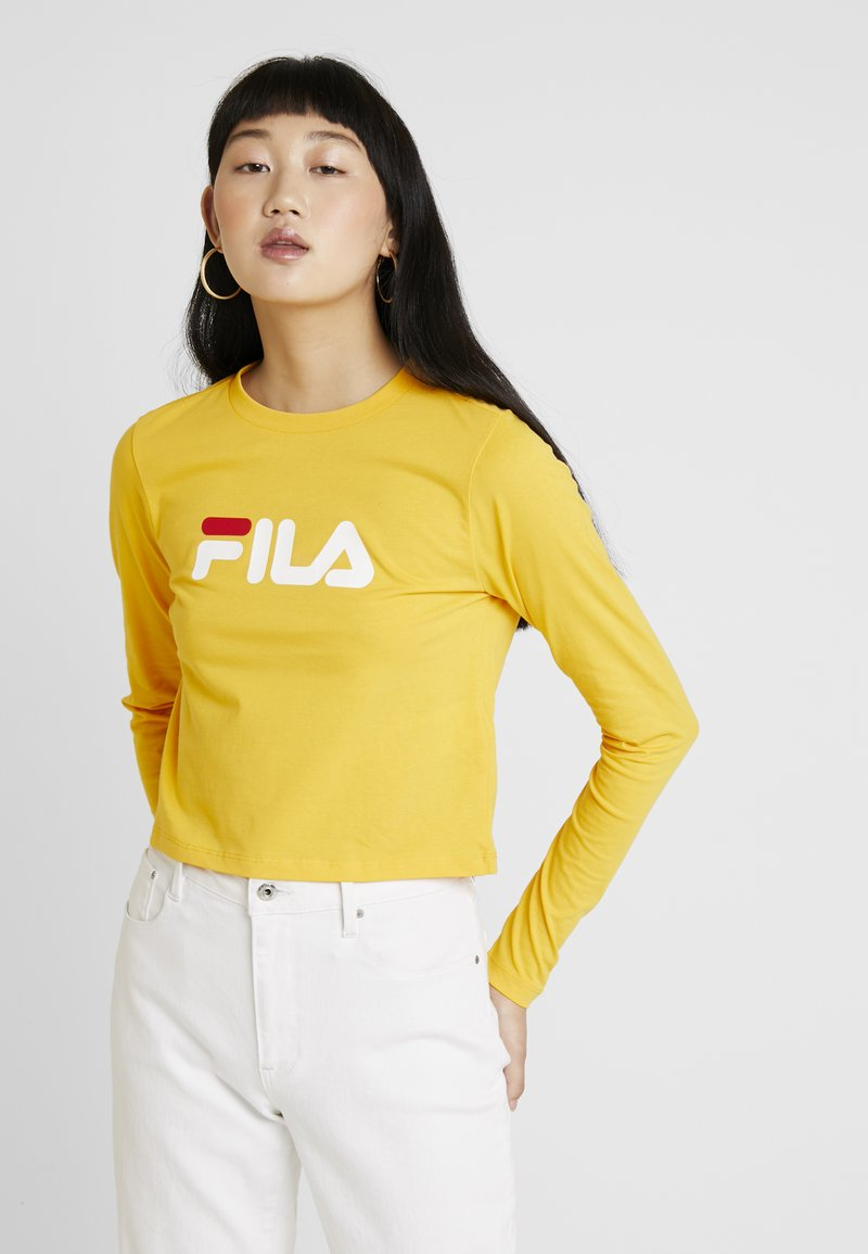 Fila - CROPPED LONG SLEEVED - Long sleeved top - citrus