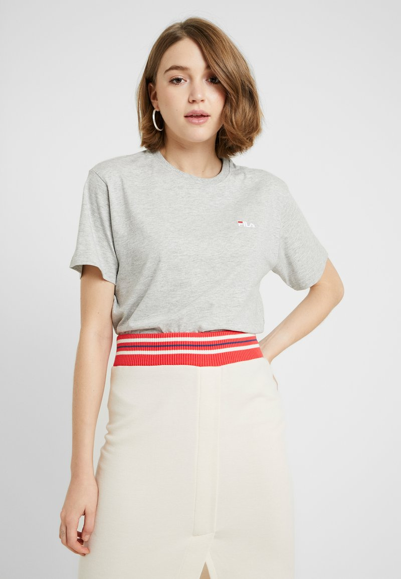 Fila - EARA TEE - T-Shirt basic - light grey melange bros
