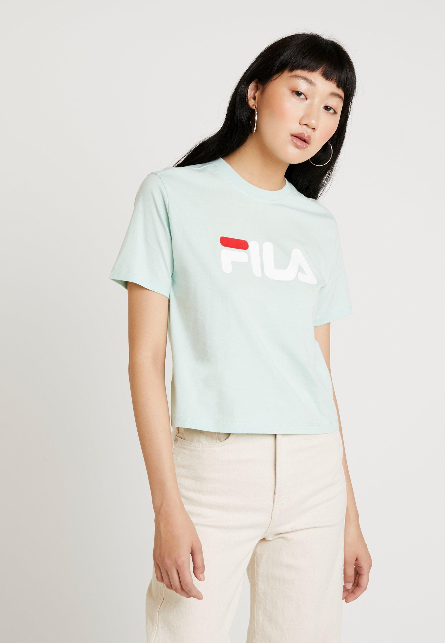 Fila shirt TeeT Imprimé Vivika Green Cropped Mist QCxerodBWE