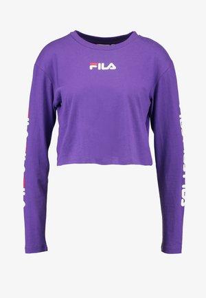 REVA LONG SLEEVED CROPPED - Top sdlouhým rukávem - tillandsia purple
