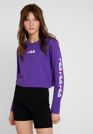 REVA LONG SLEEVED CROPPED - Top s dlouhým rukávem - tillandsia purple