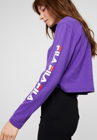 Fila - REVA LONG SLEEVED CROPPED - Top s dlouhým rukávem - tillandsia purple - 4