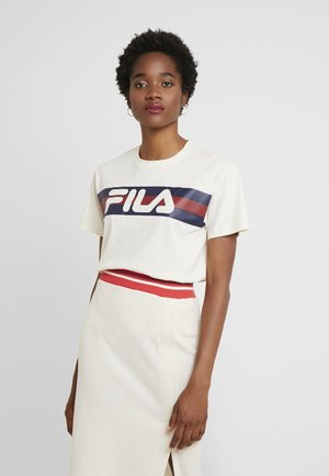 AZRIELLE TEE - Print T-shirt - whitecap gray