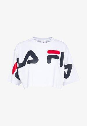 BARR - Camiseta estampada - bright white