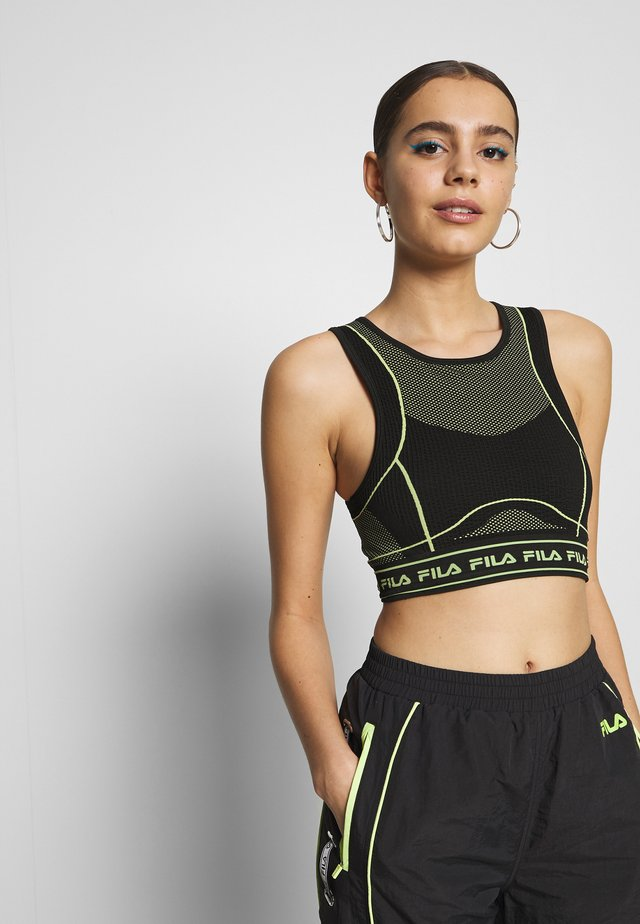 SEAMLESS CROPPED - Top - black