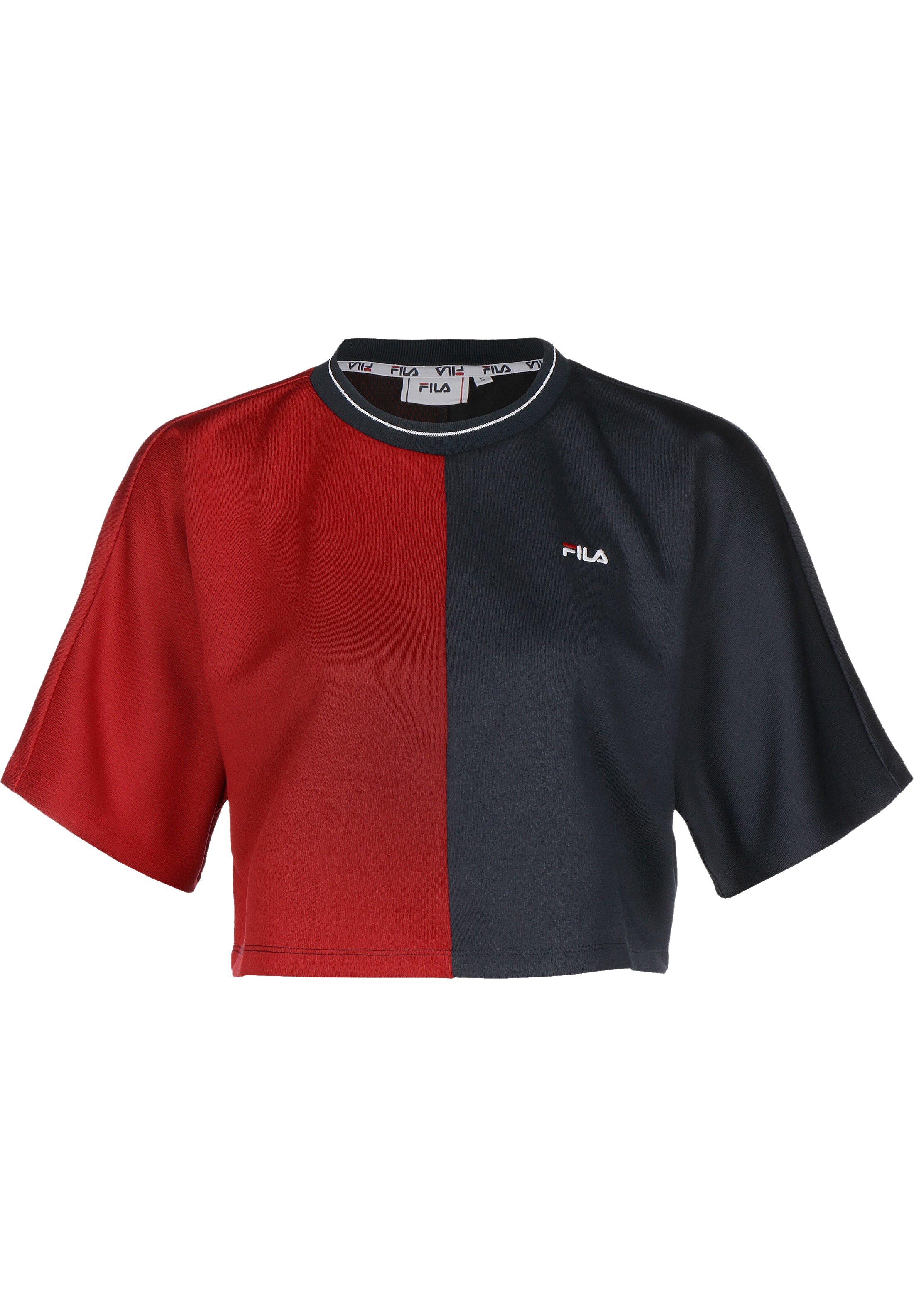 Fila T shirt imprimé black iristrue red ZALANDO.FR