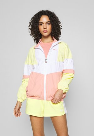 BAKA - Training jacket - limelight/bright white/lobster bisque