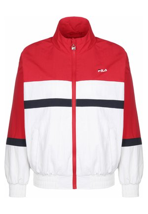 FILA WINDBREAKER KAYA - Summer jacket - true red/briwhi/black iris
