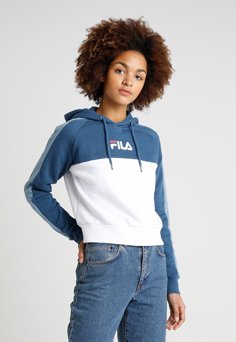 Fila - LANDERS HOODED - Kapuzenpullover - ensign blue/blue shadow
