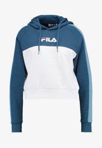 Fila - LANDERS HOODED - Bluza z kapturem - ensign blue/blue shadow - 4