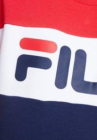 Fila - LEAH CREW - Sweatshirts - dark blue/true red/bright white - 5