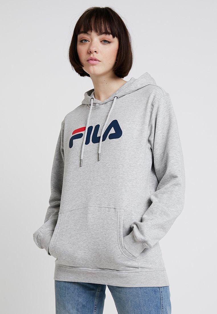 Fila - PURE HOODY - Jersey con capucha - light grey melange