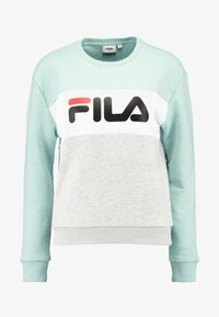 Fila - LEAH CREW - Collegepaita - light grey melange/ bright white/mist green - 3