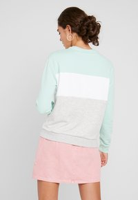 Fila - LEAH CREW - Collegepaita - light grey melange/ bright white/mist green - 2
