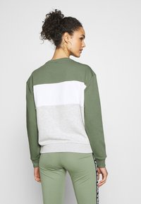 Fila - LEAH - Sweatshirt - sea spray light grey melange bros bright white - 2