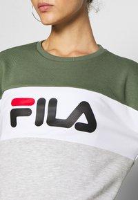 Fila - LEAH - Sweatshirt - sea spray light grey melange bros bright white - 4