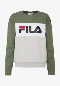 Fila - LEAH - Sweatshirt - sea spray light grey melange bros bright white - 3