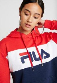 Fila - LORI HOODIE - Hoodie - black iris/bright white/true red - 5