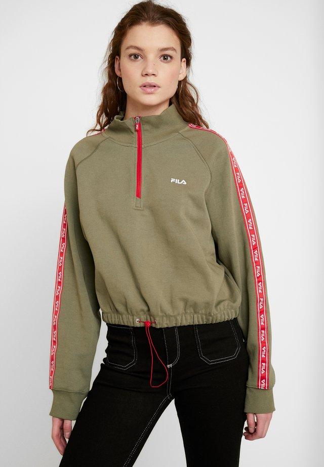 URA HALF ZIP  - Sweatshirt - deep lichen green
