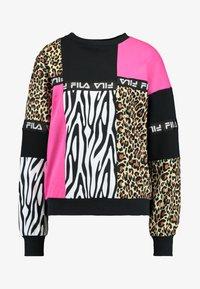Fila - PAPINA CREW  - Sweatshirt - black/pink/yarrow - 4